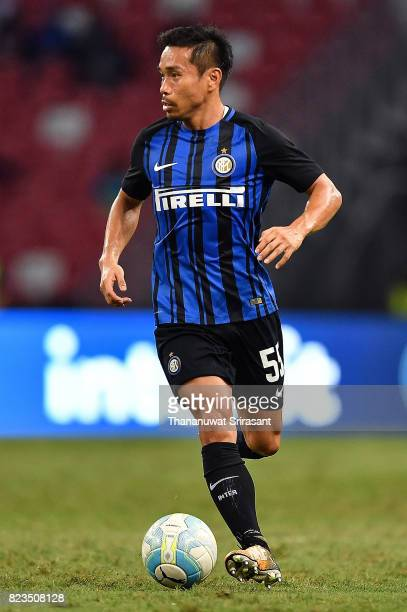 Yuto Nagatomo of FC Interernazionale runs with the ball during the International Champions Cup match between FC Bayern Munich and FC Internazionale...