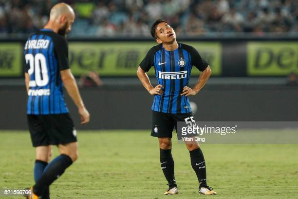 Yuto Nagatomo of FC Internationale reacts during the 2017 International Champions Cup football match between FC Internationale v Olympique Lyonnais...