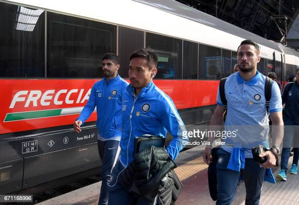 Yuto Nagatomo of FC Internazionale departs to Florence on April 21 2017 in Milan Italy