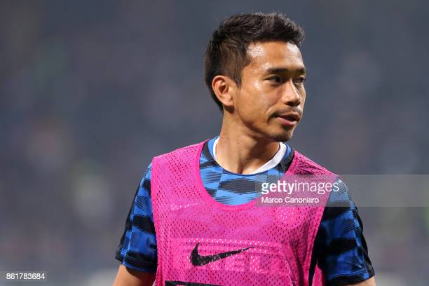 Yuto Nagatomo of FC Internazionale during the Serie A match between FC Internazionale and AC Milan Fc Internazionale wins 32 over Ac Milan