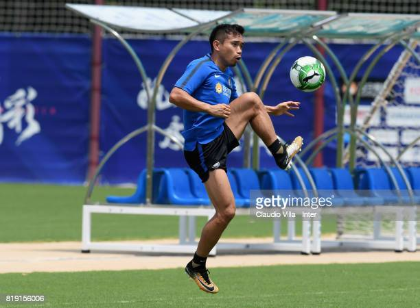 Yuto Nagatomo of FC Internazionale in action during a FC Interazionale training session at Suning training center on July 20 2017 in Nanjing China