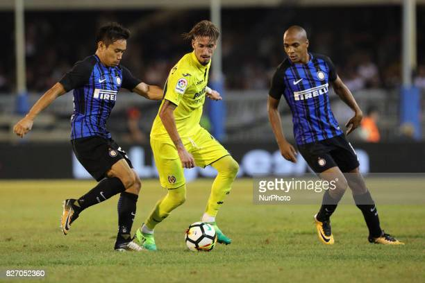 Yuto Nagatomo of FC Internazionale in action during the PreSeason 2017/2018 International Friendly FC Internazionale v Villareal CF at Riviera delle...