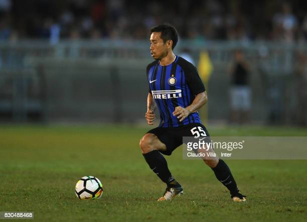 Yuto Nagatomo of FC Internazionale in action during the PreSeason Friendly match between FC Internazionale and Villareal CF at Stadio Riviera delle...
