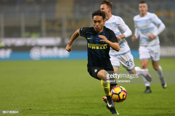 Yuto Nagatomo of FC Internazionale in action during the Serie A football match between FC Internazionale and SS Lazio FC Internazionale wins 30 over...