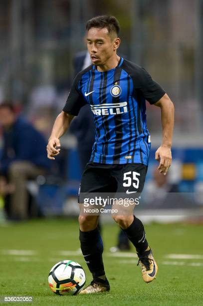 Yuto Nagatomo of FC Internazionale in action during the Serie A football match between FC Internazionale and ACF Fiorentina FC Internazionale wins 30...