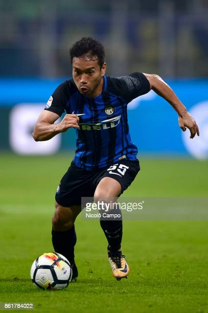 Yuto Nagatomo of FC Internazionale in action during the Serie A football match between FC Internazionale and AC Milan FC Internazionale wins 32 over...