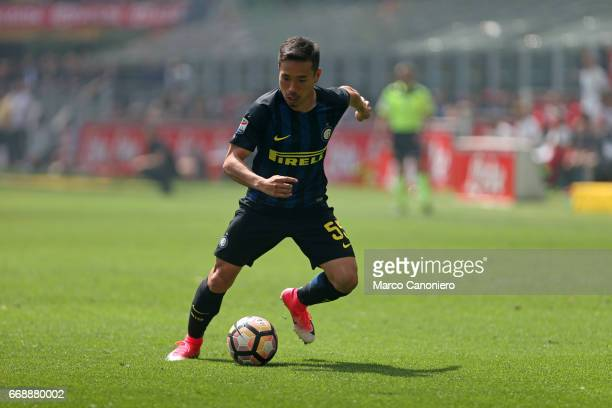 Yuto Nagatomo of FC Internazionale in action during the Serie A match between FC Internazionale and Ac Milan