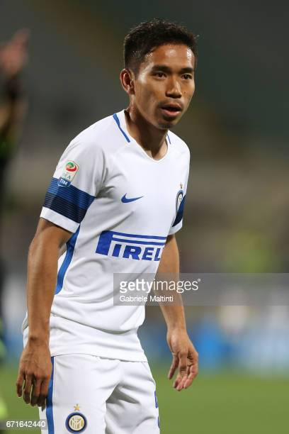 Yuto Nagatomo of FC Internazionale in action during the Serie A match between ACF Fiorentina v FC Internazionale at Stadio Artemio Franchi on April...