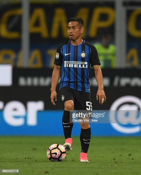 Yuto Nagatomo of FC Internazionale in action during the Serie A match between FC Internazionale and Udinese Calcio at Stadio Giuseppe Meazza on May...
