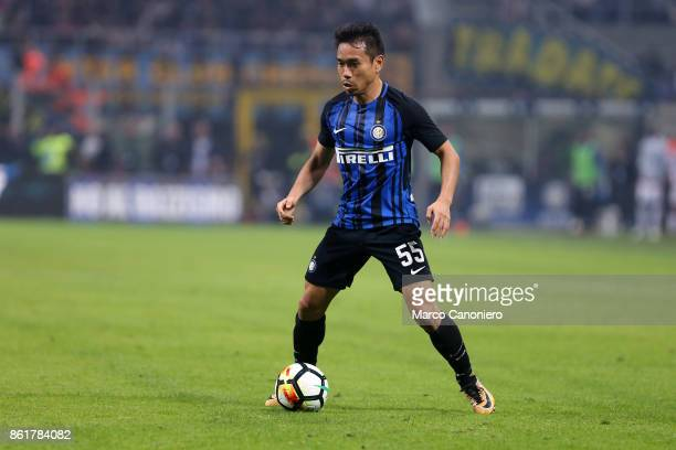 Yuto Nagatomo of FC Internazionale in action during the Serie A match between FC Internazionale and AC Milan Fc Internazionale wins 32 over Ac Milan