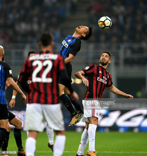 Yuto Nagatomo of FC Internazionale in action during the Serie A match between FC Internazionale and AC Milan at Stadio Giuseppe Meazza on October 15...