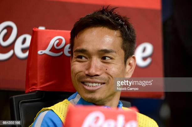 Yuto Nagatomo of FC Internazionale looks on during the Serie A football match between FC Internazionale and UC Sampdoria UC Sampdoria wins 21 over FC...
