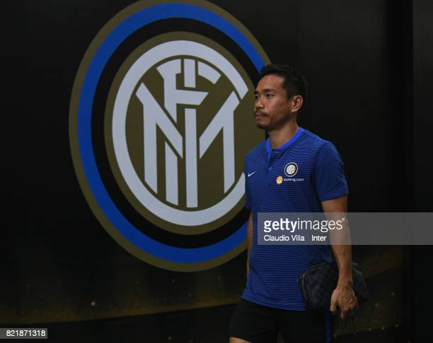 Yuto Nagatomo of FC Internazionale looks on prior to the 2017 International Champions Cup match between FC Internazionale and Olympique Lyonnais at...