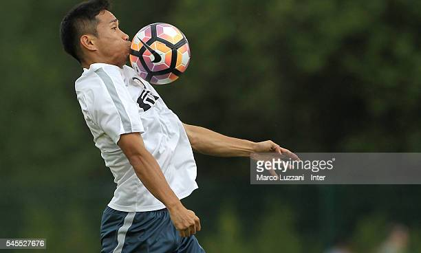Yuto Nagatomo of FC Internazionale Milano controls the ball during day Three of the FC Internazionale training camp on July 8 2016 in Bruneck Italy