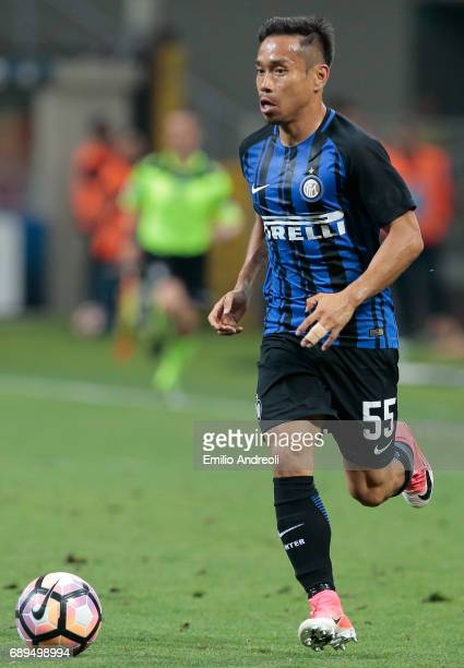 Yuto Nagatomo of FC Internazionale Milano in action during the Serie A match between FC Internazionale and Udinese Calcio at Stadio Giuseppe Meazza...