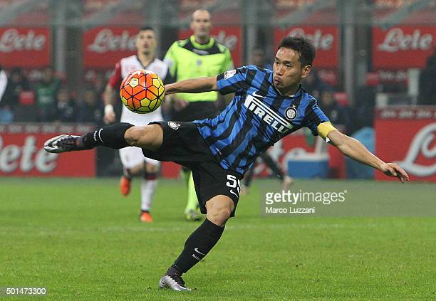 Yuto Nagatomo of FC Internazionale Milano in action during the TIM Cup match between FC Internazionale Milano and Cagliari Calcio at Stadio Giuseppe...
