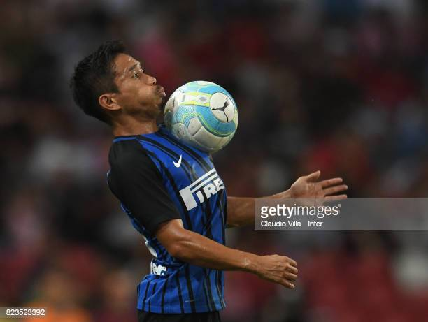 Yuto Nagatomo of FC Internazionale of FC Internazionale in action during the International Champions Cup match between FC Bayern and FC...