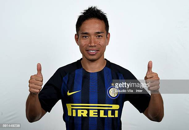 Yuto Nagatomo of FC Internazionale poses during the official portrait session at Appiano Gentile on August 16 2016 in Como Italy