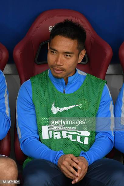 Yuto Nagatomo of FC Internazionale sits on the bench prior to the Serie A match between FC Torino and FC Internazionale at Stadio Olimpico di Torino...
