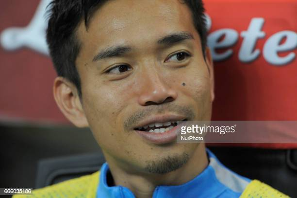 Yuto Nagatomo of Inter during the Serie A match between FC Internazionale and UC Sampdoria at Stadio Giuseppe Meazza on April 03 2017 in Milan Italy