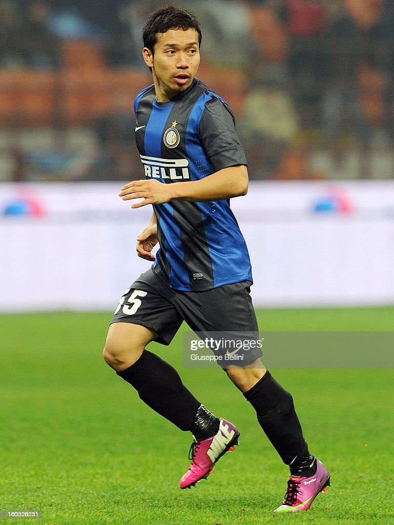 Yuto Nagatomo of Inter in action during the Serie A match between FC Internazionale Milano and Torino FC at San Siro Stadium on January 27, 2013 in Milan, Italy.