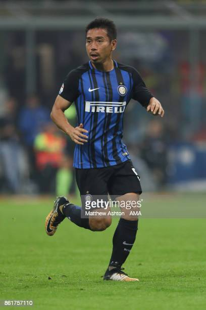 Yuto Nagatomo of Internazionale during to the Serie A match between FC Internazionale and AC Milan at Stadio Giuseppe Meazza on October 15 2017 in...