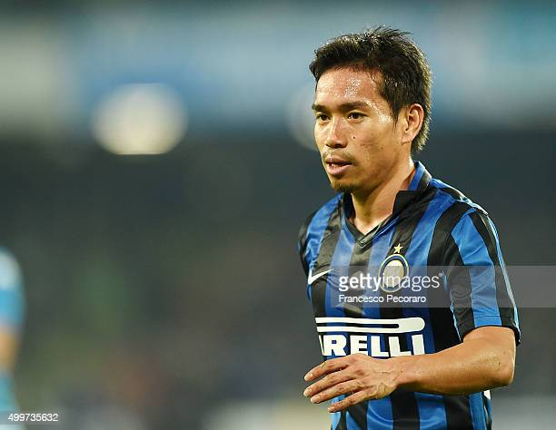 Yuto Nagatomo of Internazionale Milano in action during the Serie A match between SSC Napoli and FC Internazionale Milano at Stadio San Paolo on...