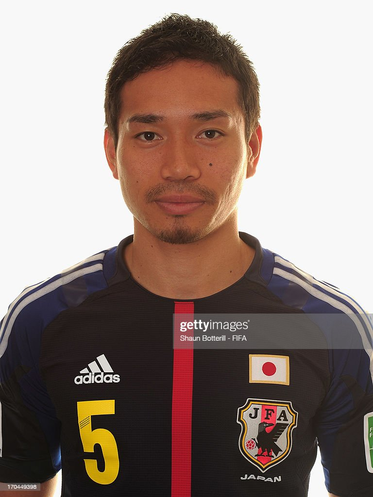 Yuto Nagatomo of Japan poses for a portrait at the Kubistchek Plaza Hotel on June 13, 2013 in Brasilia, Brazil.