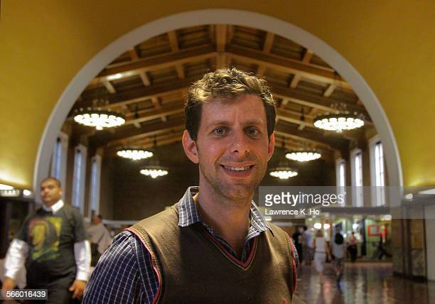 Yuval Sharon Producer/Artistic Dir/Director of the opera 'Invisible Cities' during rehearsal of the opera at Union Station in Los Angeles on Oct 4...
