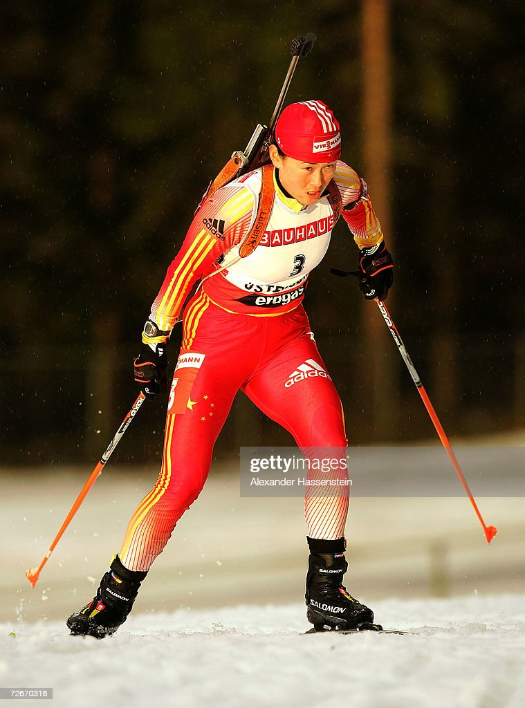 Yuxia Hou of China in action during the first Women 15 km Individual Biathlon event of the season, on November 29, 2006 in Ostersund, Sweden.