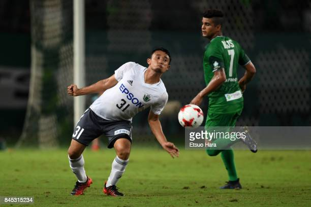 Yuya Hashiuchi of Matsumoto Yamaga in action during the JLeague J2 match between Tokyo Verdy and Matsumoto Yamaga at Ajinomoto Stadium on September...