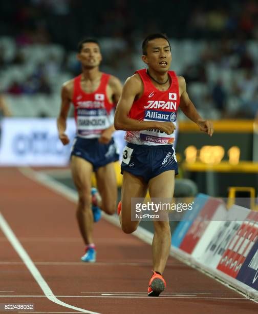 Yuya Kimura of Japen compete of Men's 1500m T20 Final during World Para Athletics Championships Day Three at London Stadium in London on July 17 2017