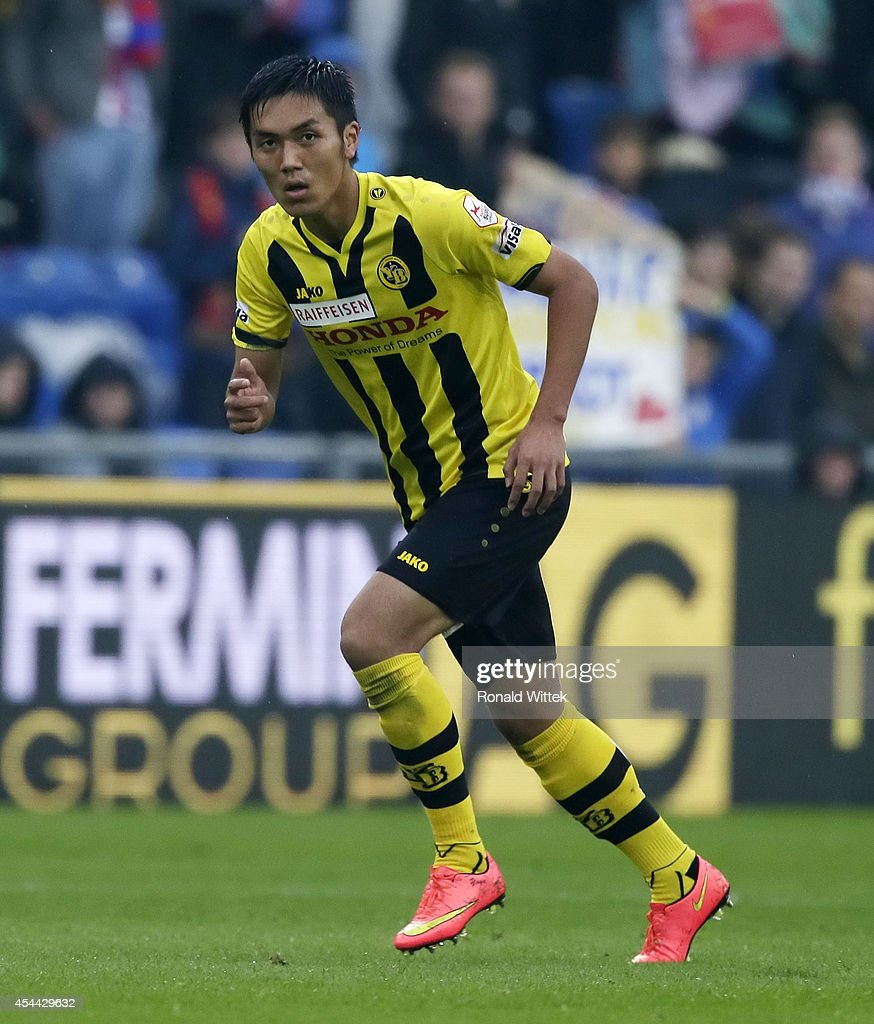 Yuya Kubo of Bern runs during the Raiffeisen Super League match between FC Basel and BSC Young Boys Bern at St.Jakob-Park on August 31, 2014 in Basel, Switzerland.
