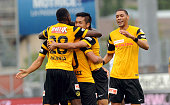 Yuya Kubo of BSC Young Boys celebrates scoring his team's first goal duringduring the Raiffeisen Super League match between FC Sion and BSC Young...
