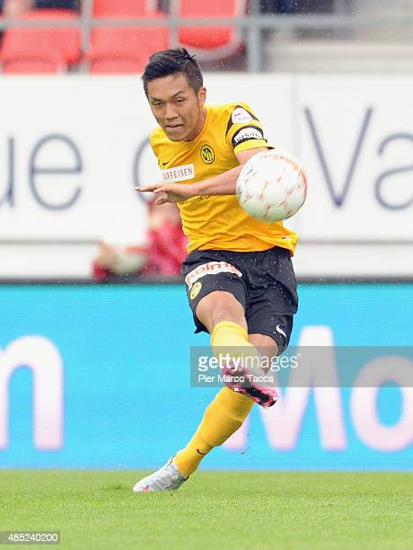 Yuya Kubo of BSC Young Boys in action during the Raiffeisen Super League match between FC Sion and BSC Young Boys on August 23 2015 in Sion...