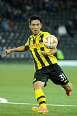 Yuya Kubo of BSC Young Boys in action during the UEFA Europa League match between BSC Young Boys and SK Slovan Bratislava at the Stade de Suisse on...
