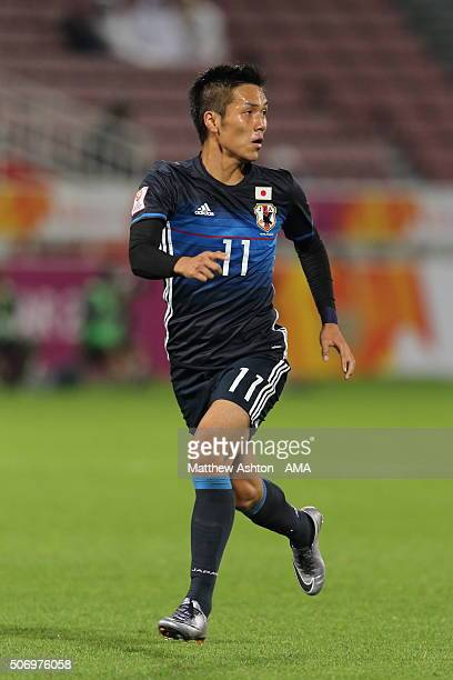 Yuya Kubo of Japan during the AFC U23 Championship semi final match between Japan and Iraq at the Abdullah Bin Khalifa Stadium on January 26 2016 in...