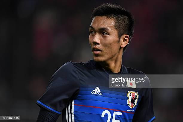 Yuya Kubo of Japan in action during the international friendly match between Japan and Oman at Kashima Soccer Stadium on November 11 2016 in Kashima...