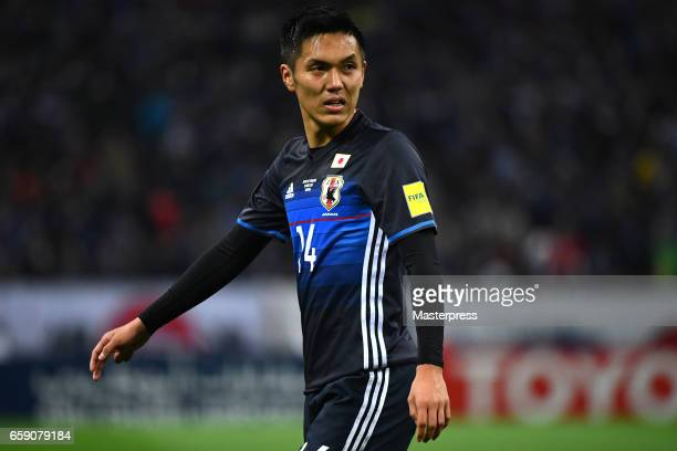 Yuya Kubo of Japan is seen during the 2018 FIFA World Cup Qualifier match between Japan and Thailand at Saitama Stadium on March 28 2017 in Saitama...