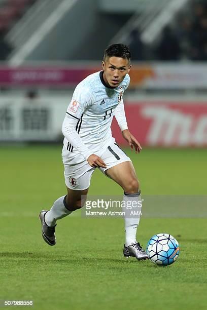 Yuya Kubo of Japan Japan during the AFC U23 Championship final match between South Korea and Japan at the Abdullah Bin Khalifa Stadium on January 30...