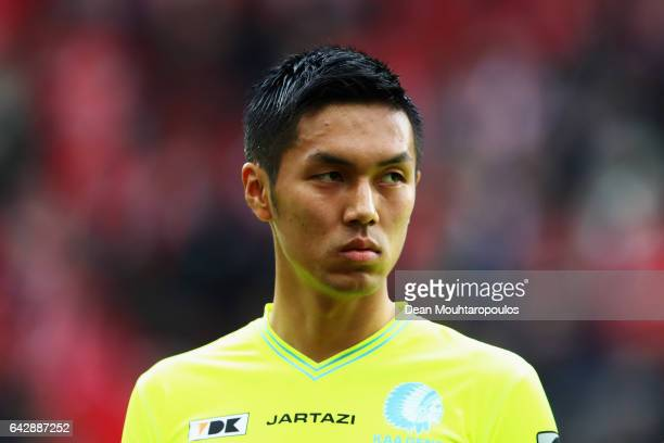 Yuya Kubo of KAA Gent looks on during the Belgian Jupiler Pro League match between Royal Standard de Liege and KAA Gent held at Stade Maurice...
