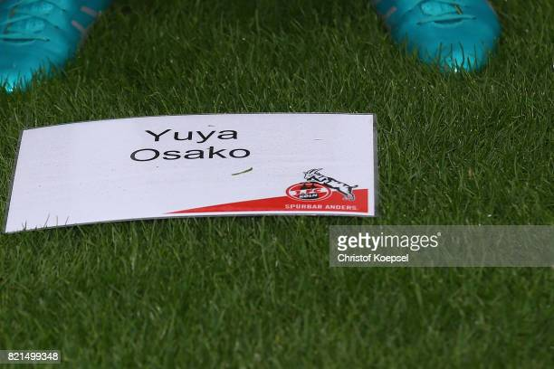 Yuya Osako of 1 FC Koeln poses during the team presentation at RheinEnergie Stadion on July 24 2017 in Cologne Germany