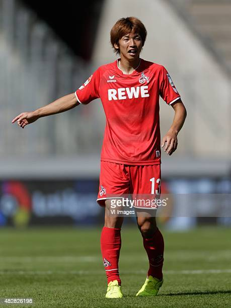 Yuya Osako of 1 FC Koln during the Colonia Cup match between 1 FC Koln and Valencia on August 2 2015 at the RheinEnergieStadion in Koln Germany