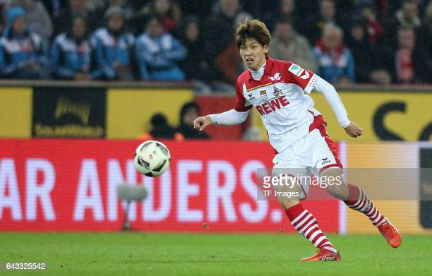 Yuya Osako of Cologne in action during the Bundesliga match between 1 FC Koeln and FC Schalke 04 at RheinEnergieStadion on February 19 2017 in...