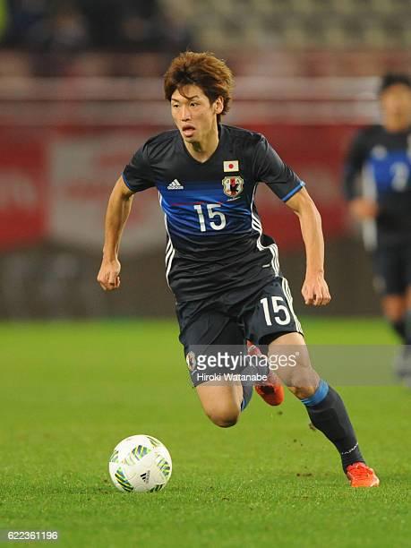 Yuya Osako of japan in action during the international friendly match between Japan and Oman at Kashima Soccer Stadium on November 11 2016 in Kashima...