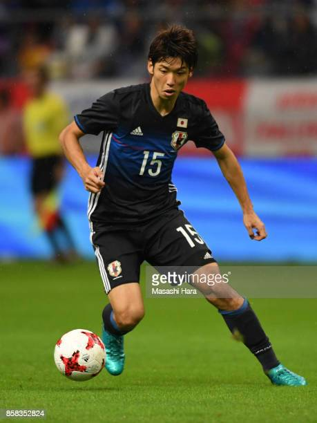 Yuya Osako of Japan in action during the international friendly match between Japan and New Zealand at Toyota Stadium on October 6 2017 in Toyota...