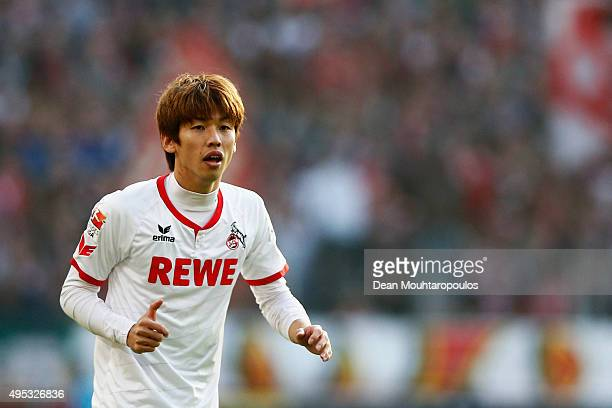 Yuya Osako of Koeln in action during the Bundesliga match between 1 FC Koeln and TSG 1899 Hoffenheim held at RheinEnergieStadion on October 31 2015...