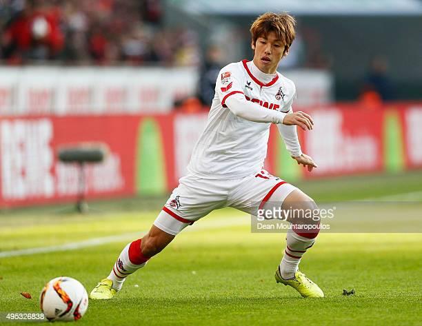 Yuya Osako of Koeln in action during the Bundesliga match between 1 FC Koeln and TSG 1899 Hoffenheim held at RheinEnergieStadion on October 31 2015...
