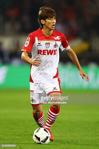 Yuya Osako of Koeln in action during the Bundesliga match between 1 FC Koeln and Hamburger SV at RheinEnergieStadion on October 30 2016 in Cologne...
