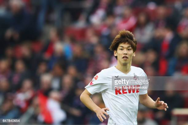 Yuya Osako of Koeln in action during the Bundesliga match between 1 FC Koeln and Bayern Muenchen at RheinEnergieStadion on March 4 2017 in Cologne...